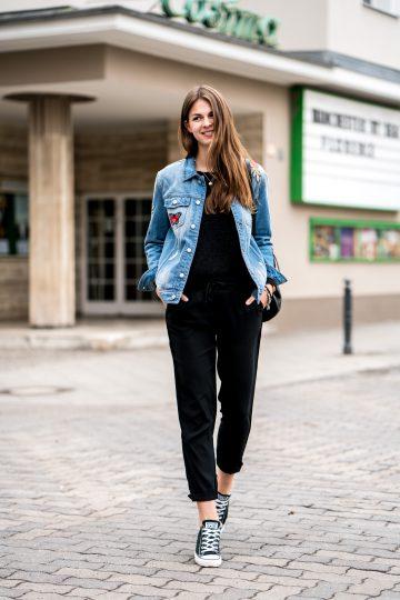 black Reserved pants
