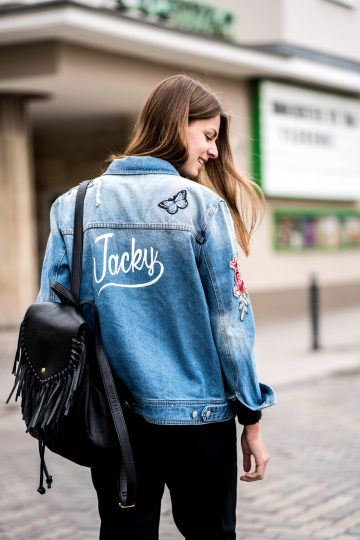 personalised denim jacket