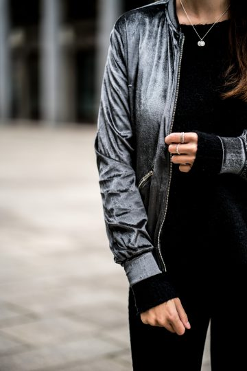 silver bomber jacket from hype