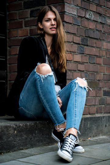 schwarze Converse Sneakers