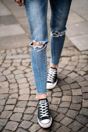wie trägt man Converse