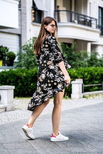 Kimono mit Blumeprint
