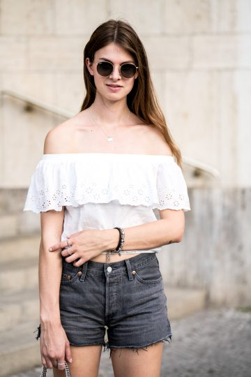 Subdued Off-Shoulder Shirt