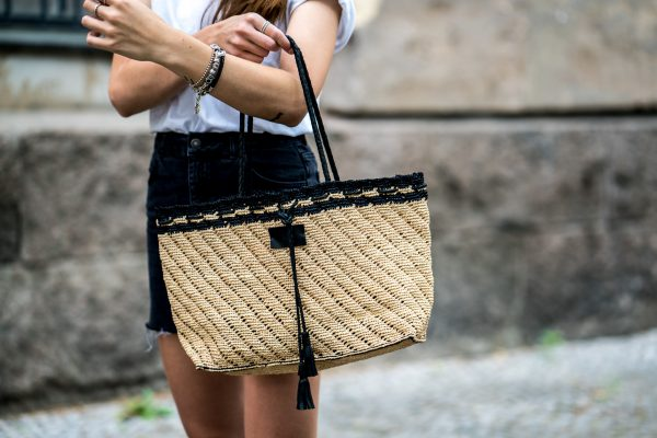 straw bag from ba&sh