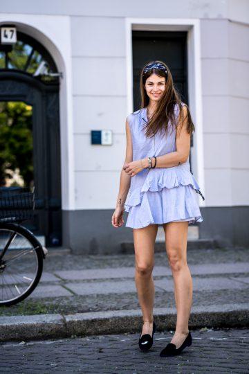 blaues Zara Kleid