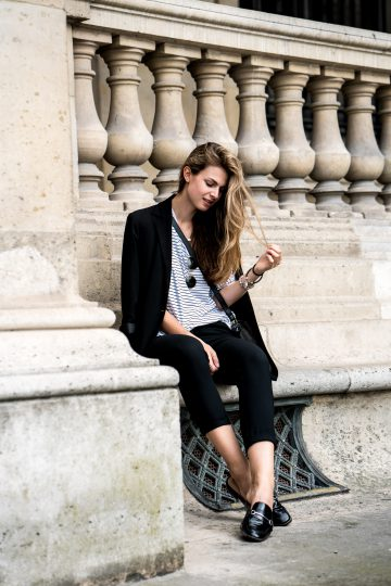 casual chic Paris Outfit