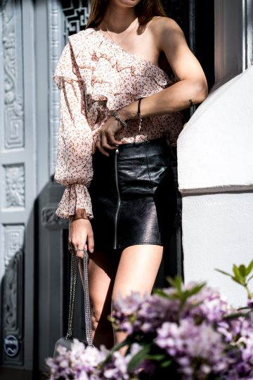 how to wear leather look