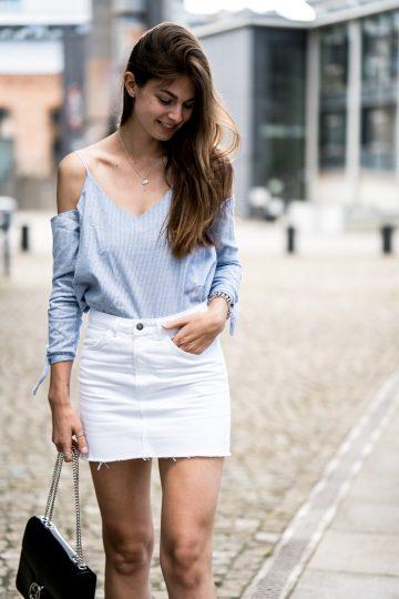 Blau-Weißes Sommeroutfit