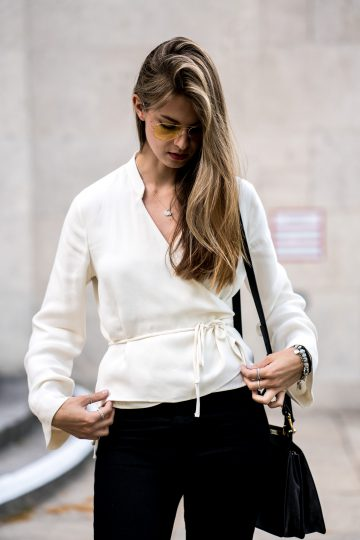 How to wear a wrap blouse