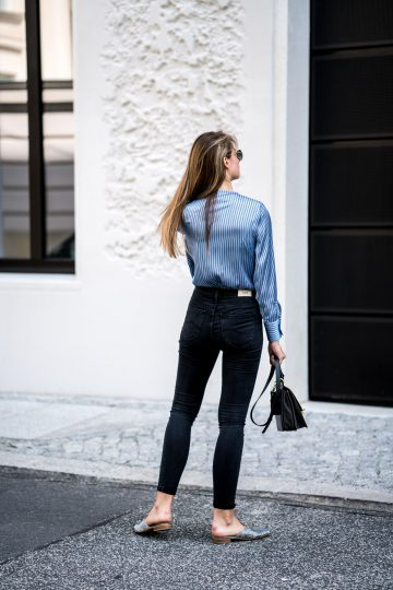 how to wear high-waisted Jeans?