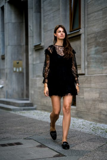 Wearing a Black Lace Dress in Summer