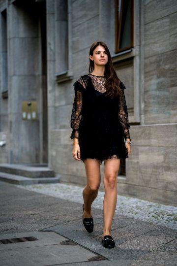 Wearing a Black Lace Dress in Summer