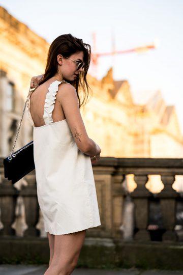 weißes Zara Kleid