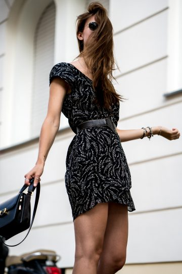 how to combine a black dress
