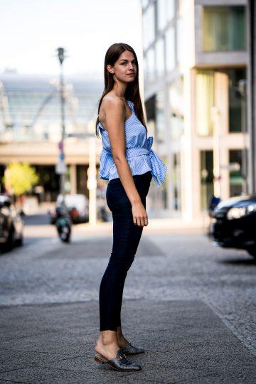 dunkelblaue Lee Jeans