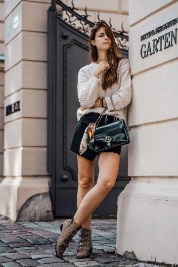 Röcke kombiniert mit dicken Pullovern