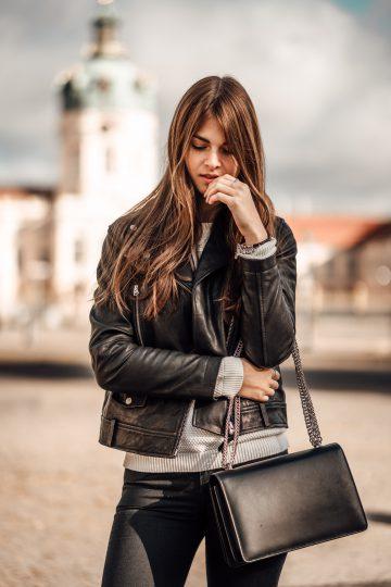 schwarze Agneel Tasche