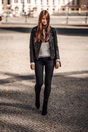 schwarze Skinny Jeans