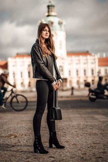 Autumn essential leather jacket