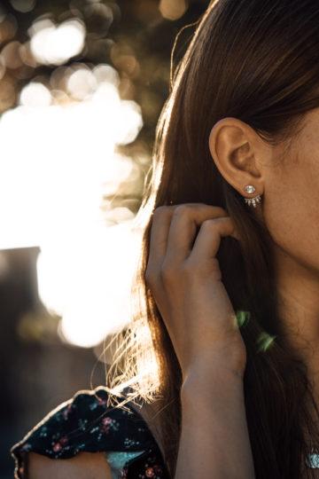 Wie trägt man Ohrringe