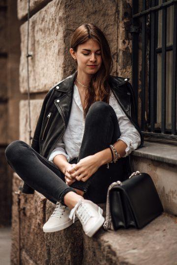 schwarz-weißes Outfit