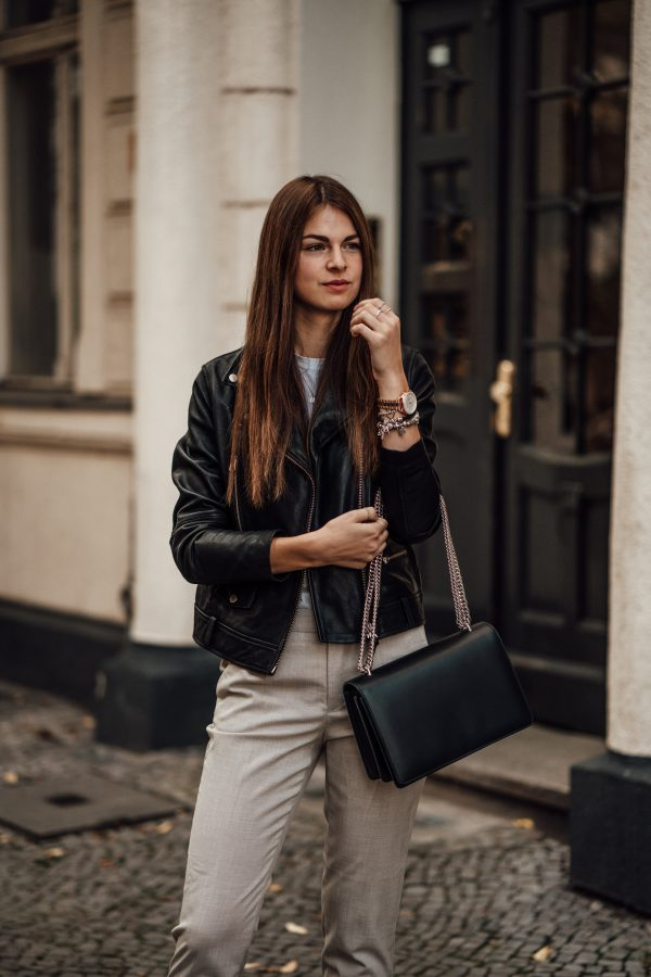 leather jacket casual chic styled