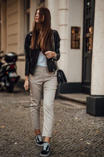 beige Anzughose von Zara