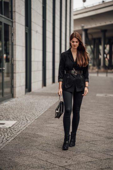 Wie trägt man einen Belted Blazer