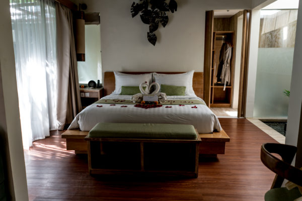 bed at one room villa at Ini Vie Villas