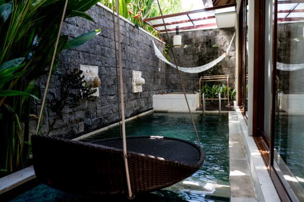 Außenbereich Ein-Zimmer-Villa Ini Vie Villas