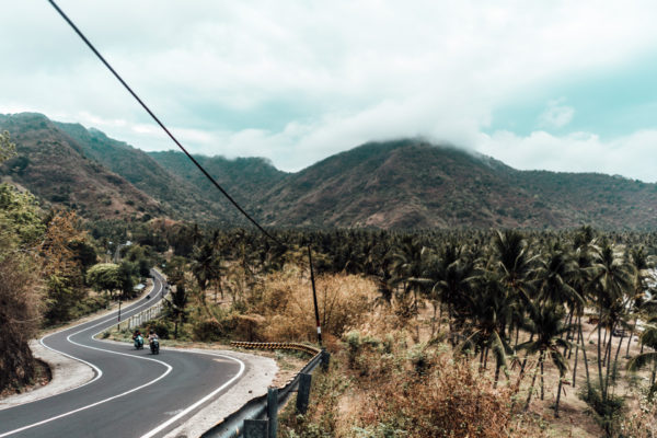 driving along the west coast in Lombok