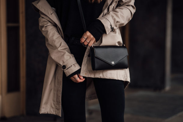 how to style a black clutch