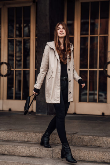 how to wear a Trenchcoat in Winter