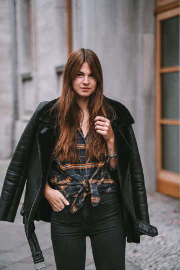how to wear a Shearling Jacket