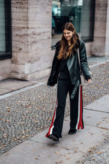 Winter Office Wear: Wide Leg Pants and Boots