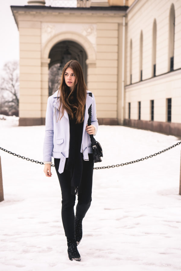 black clothes pants in Winter
