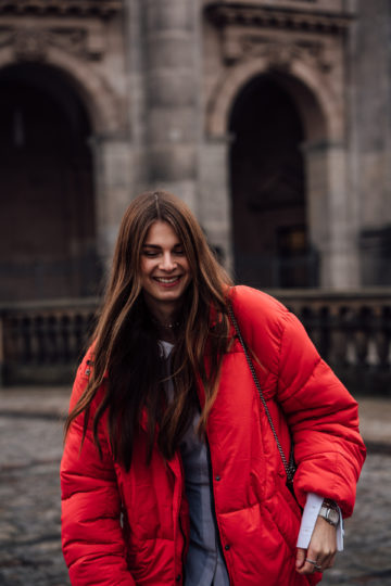 How to style a red jacket