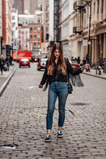 New York Streetstyle: das Fransenshirt