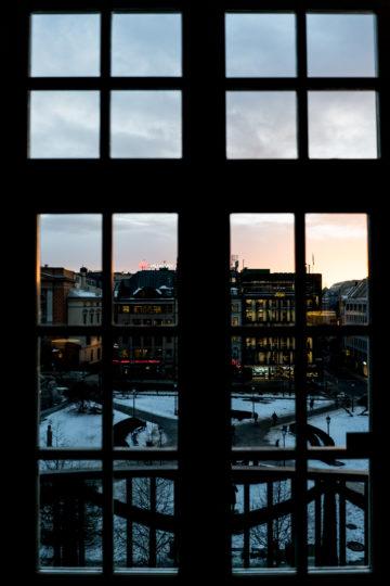 Grand Hotel Oslo Zimmerausblick