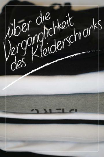 Über: Die Vergänglichkeit eines Kleiderschranks.
