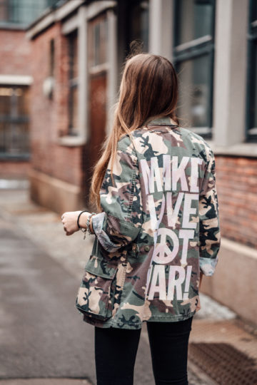Make Love Not War Print Jacket