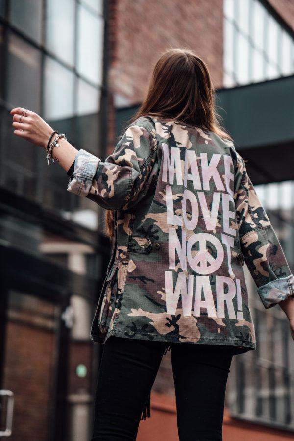 Camuflage Jacke mit Print
