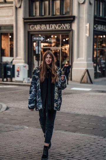 New York Streetstyle: Oversized Camouflage Jacket