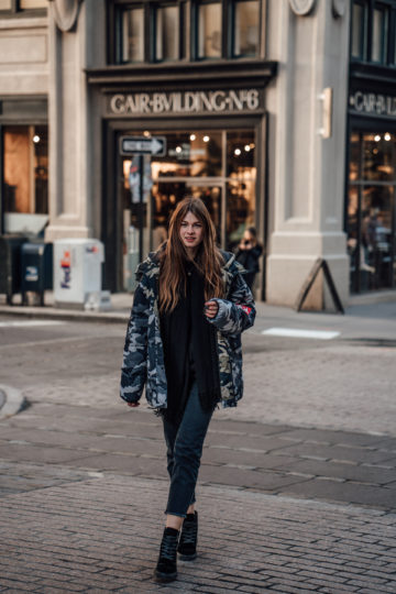 gemütliches Outfit für einen Städtetrip