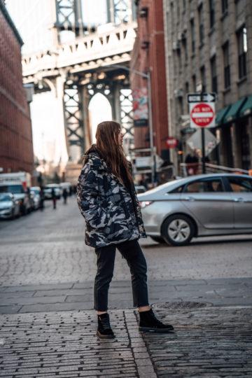 übergroße Camouflage Jacke