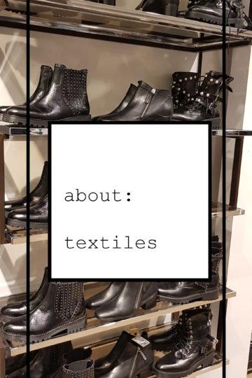 About: textiles.