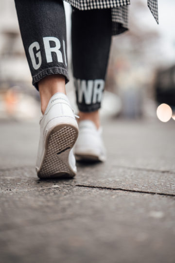 Jeans with GRL PWR print