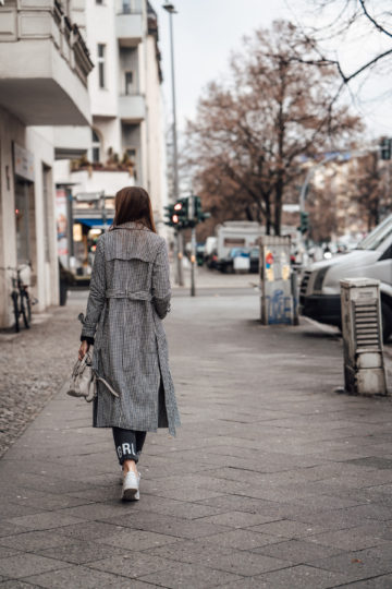 long coat for cold spring days