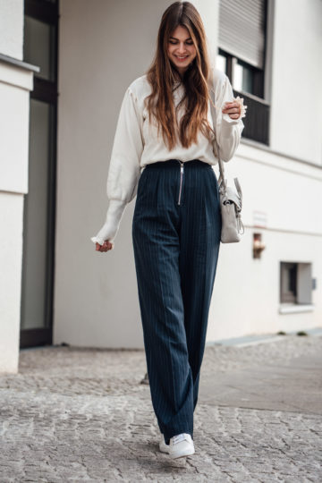 how to wear pinstripe pants