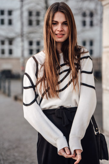 how to style a white sweater